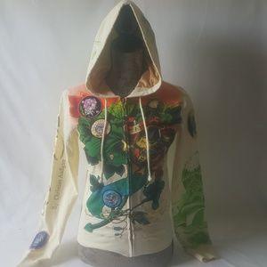 Ed Hardy women's zip-up hoodie